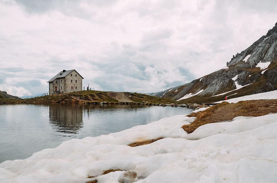 Wandern im Obervinschgau, Südtirol: durchs Schliniger Tal zur Alten Pforzheimer Hütte