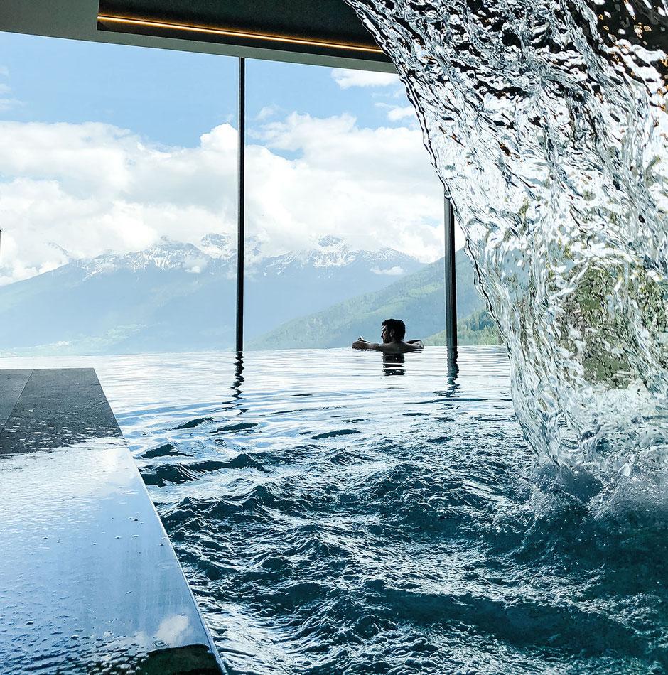 Infinity Pool, Alpin und Relax Hotel DAS GERSTL (Vinschgau, Südtirol)