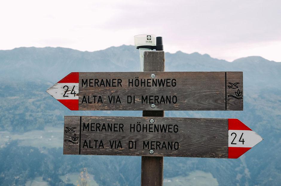 Meraner Höhenweg Wegmarkierung 24