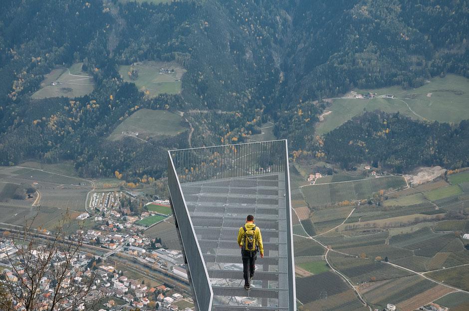 Aussichtsplattform am Meraner Höhenweg