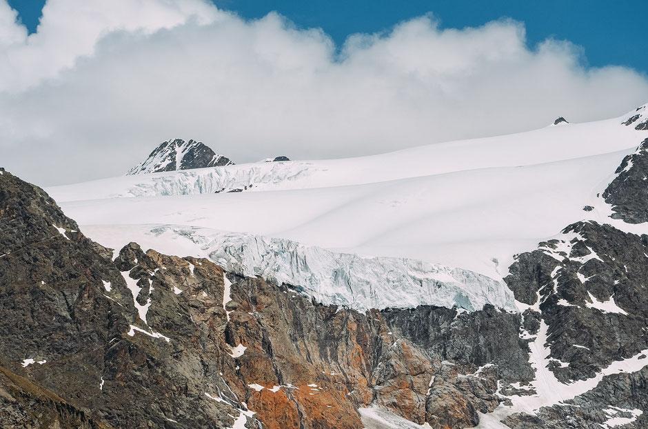 Gletscherblick von der Weißkugelhütte