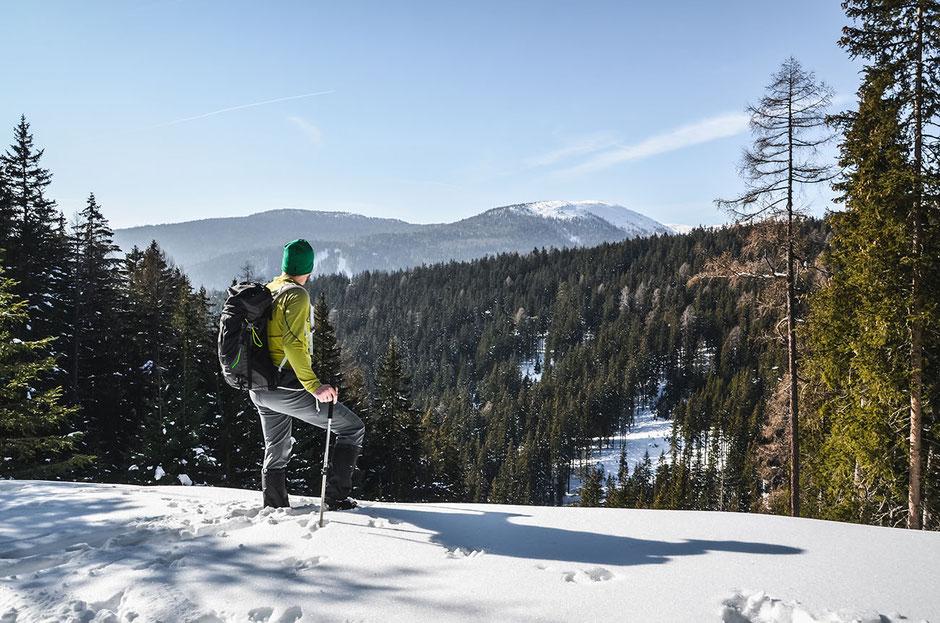 Schneeschuhwandern in der Region Gitschberg-Jochtal, Südtirol - Meransen (Pustertal)