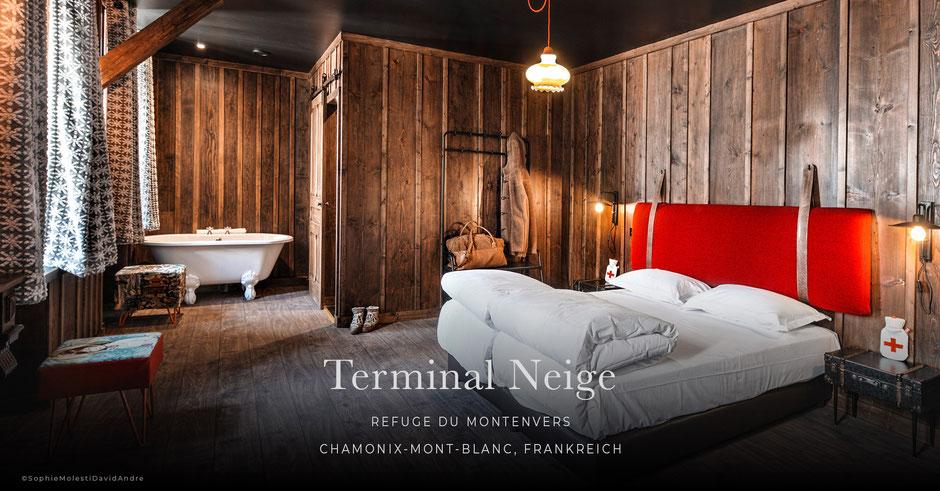 Terminal Neige - Refuge du Montenvers, Chamonix-Mont-Blanc, Frankreich - Hütte, Boutiquehotel, B&B, Bed&Breakfast,