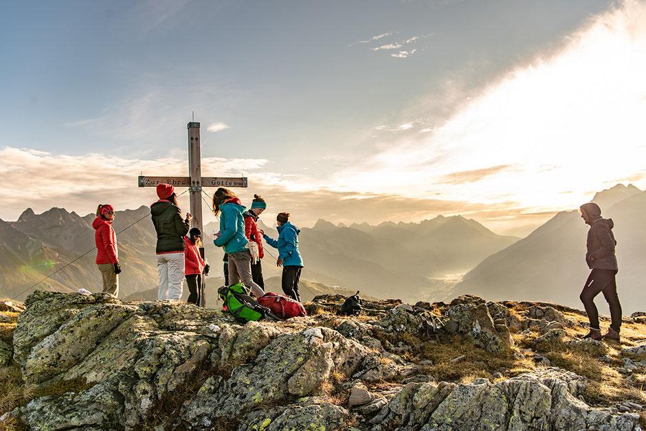 Sonnenaufgang Wanderung WIRT ab St.Christoph am Arlberg - Berggeistweg/Kaltenberghütte