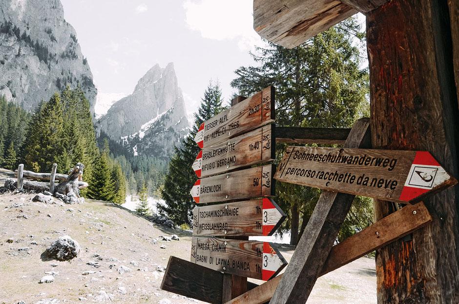Wanderwege rund um den Rosengarten, Tschamintal, Südtirol