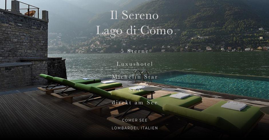 eines der schönsten Seehotels im Alpenvorland (Lombardei, Italien)