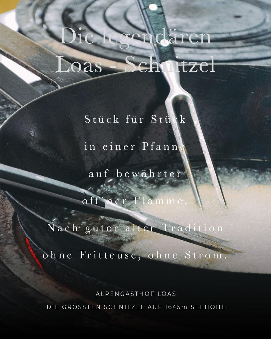 die legendären Loas-Schnitzel: die größten Wiener Schnitzel Tirols