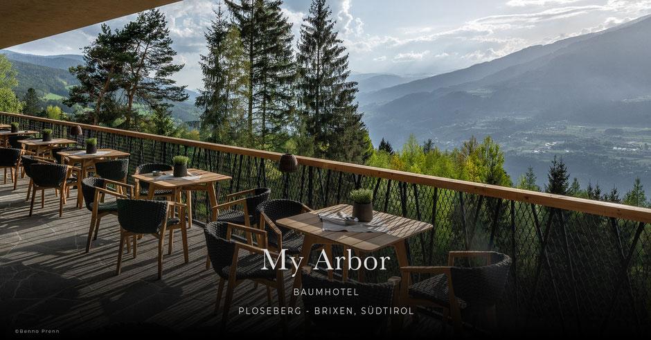 My Arbor, Baumhaus, Baumhotel, Wellnesshotel, Wanderhotel, Ploseberg - Brixen - Südtirol - Italien
