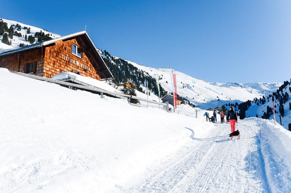 Naturrodelbahn Weidener Hütte, Tuxer Alpen, Tirol