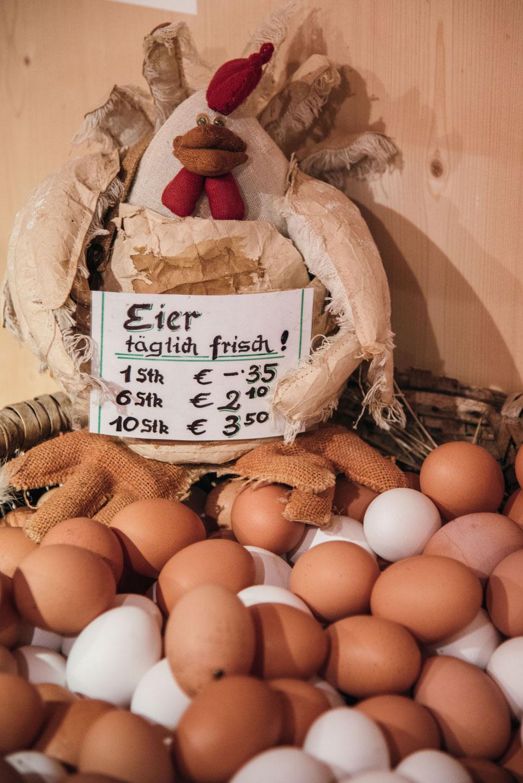Steirerhof, Steirers Hofladen am Mieminger Plateau, frische Eier vom Bauern
