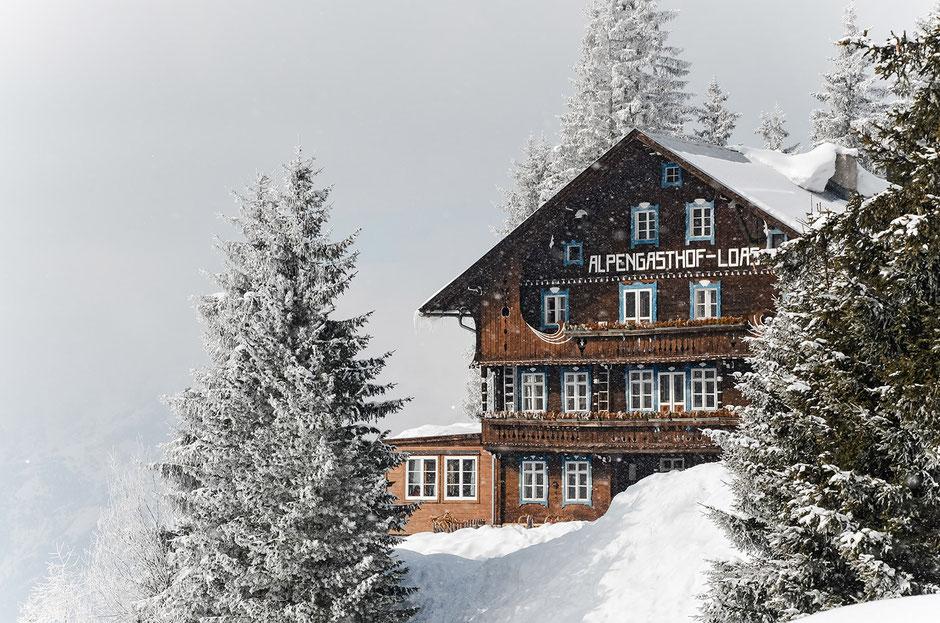 Alpengasthof Loas, Tirol - größtes Wiener Schnitzel, Wandern, Rodeln, Rodelbahn LOAS