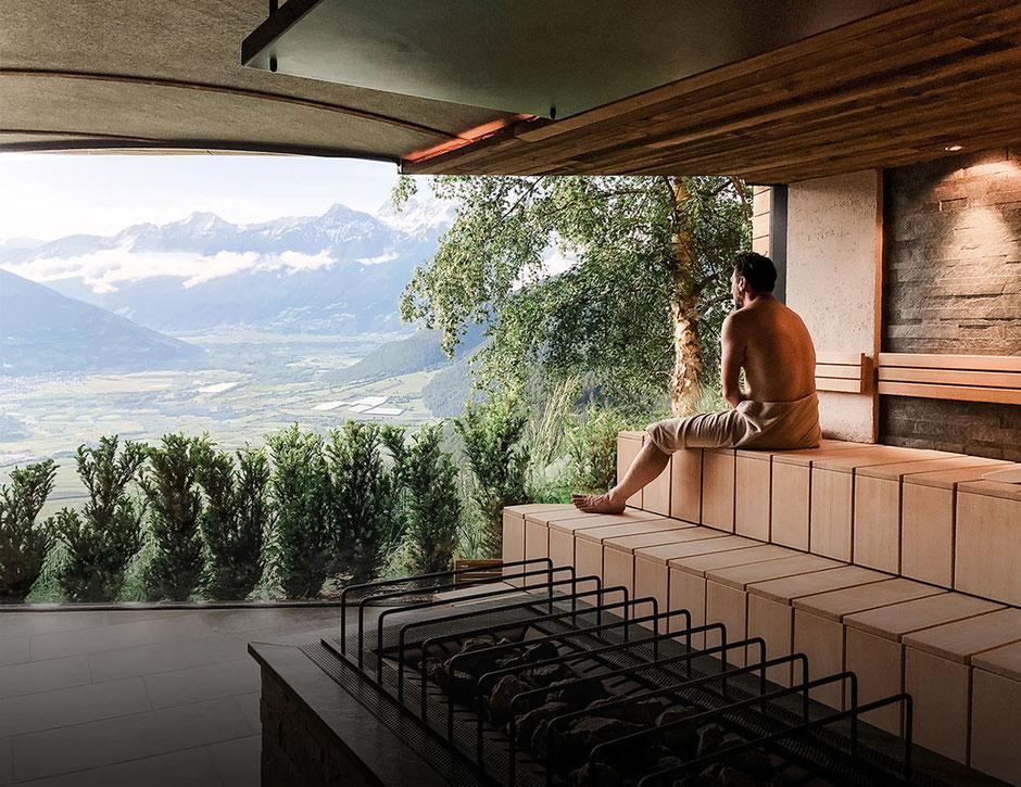 Weitblicksauna im Alpin und Relax Hotel DAS GERSTL (Südtirol,Vinschgau)