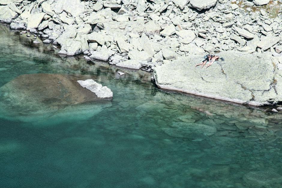 Seenwanderung Tirol: Schwarzmoosseen (Rotfelssee) - Kühtai, Sellraintal