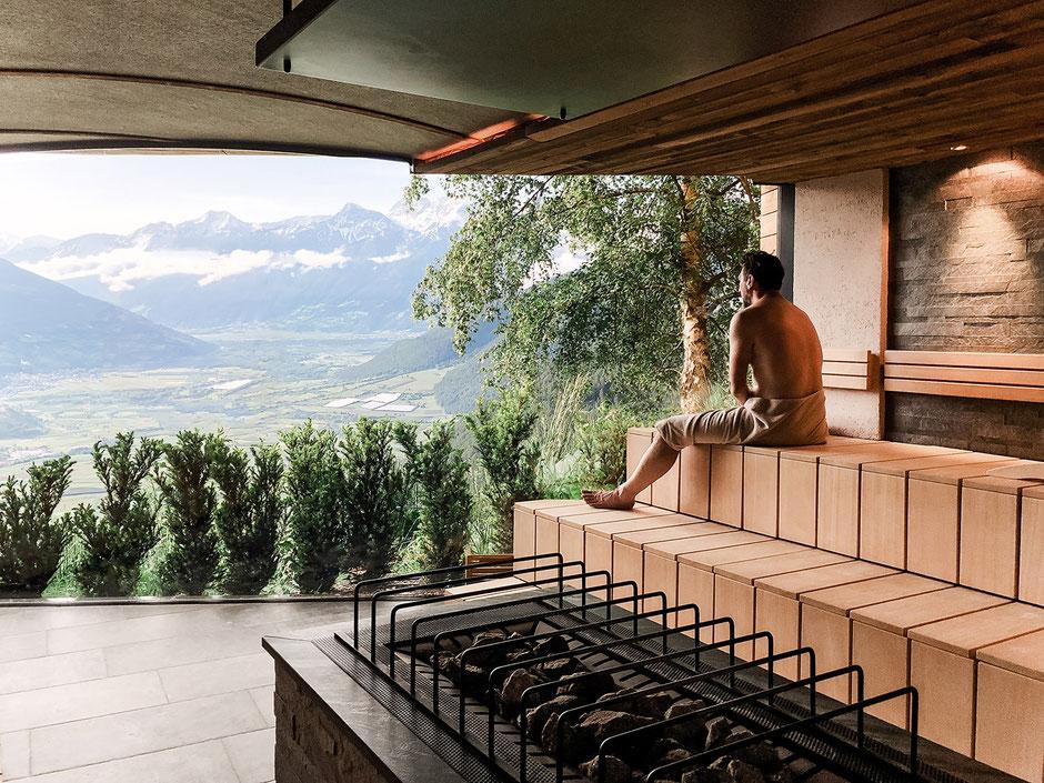 Panoramasauna im Vinschgau, Alpin und Relax Hotel DAS GERSTL