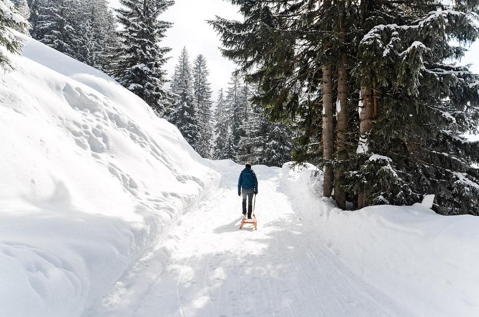 Rodeln, Alpengasthof Loas, Tirol