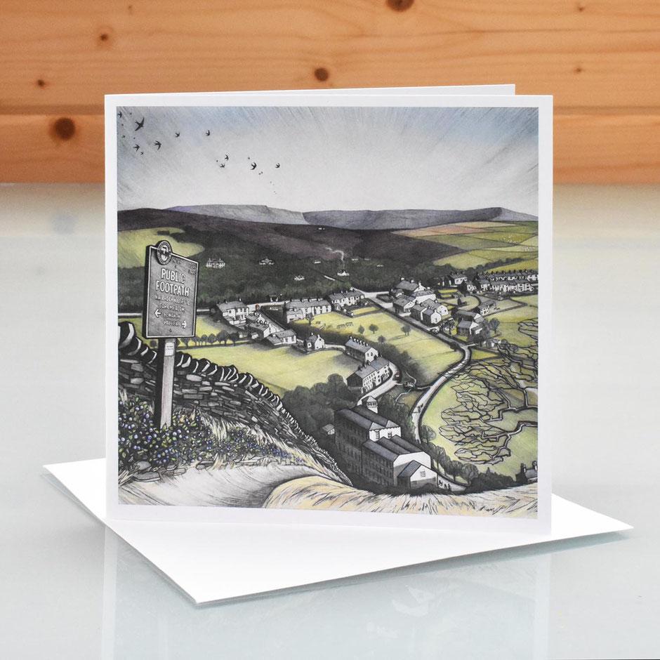little hayfield art card