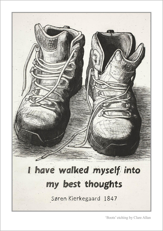 Walking boots art