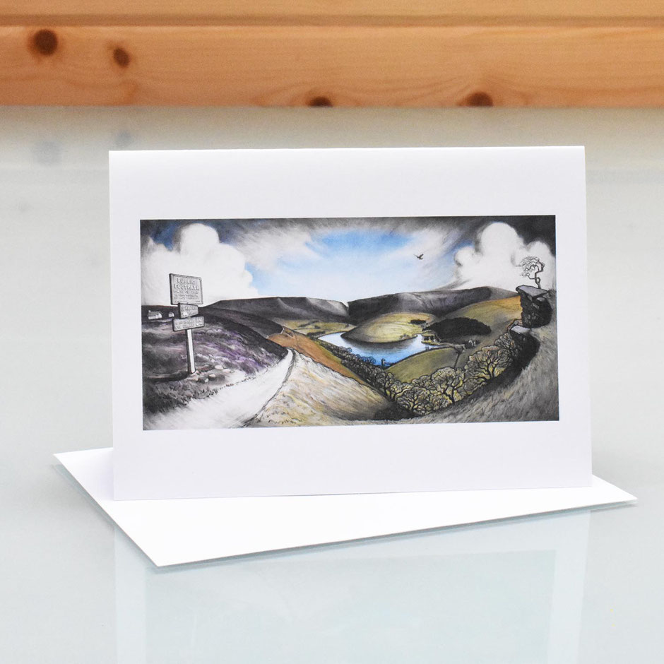 kinder reservoir kinder scout art card