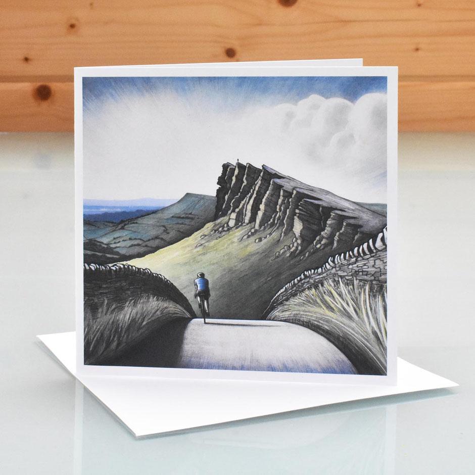 windgather rocks art card peak district