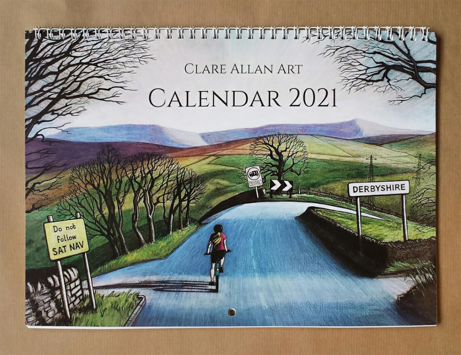 2020 calendar peak district clare allan art
