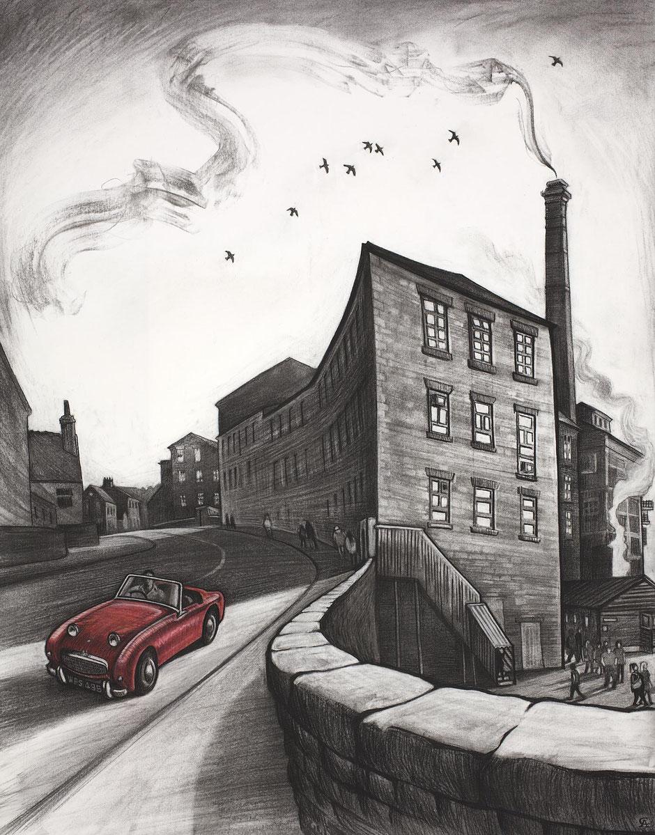 clocking off retirement art print new mills swizzels