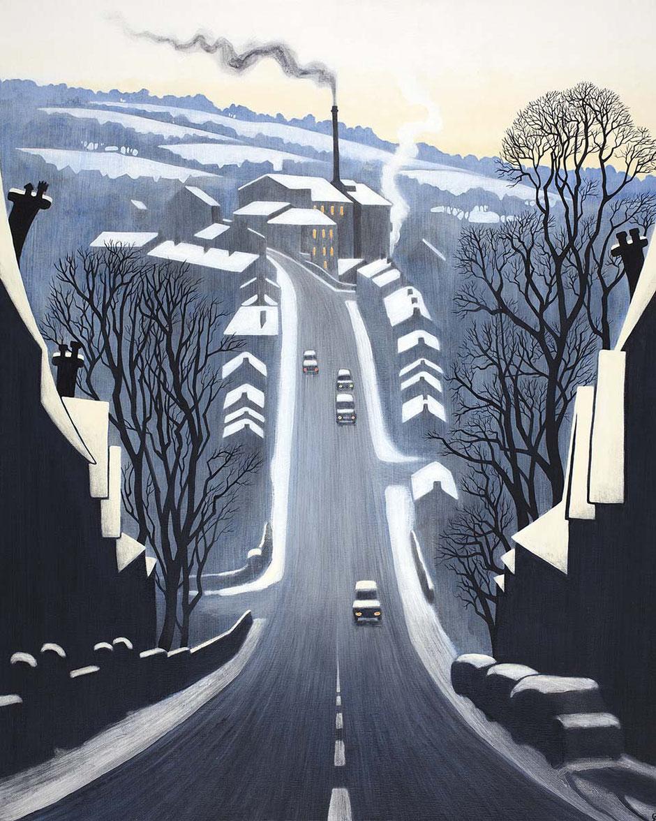 new mills art print swizzels hill 2