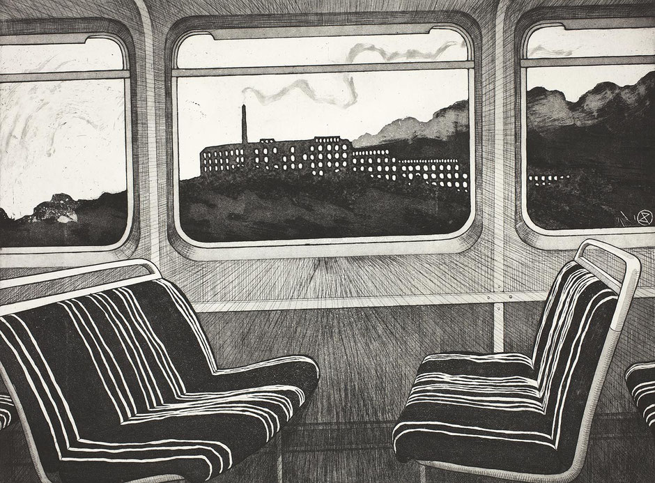 coming home hope valley line train pacer carriage etching swizzels