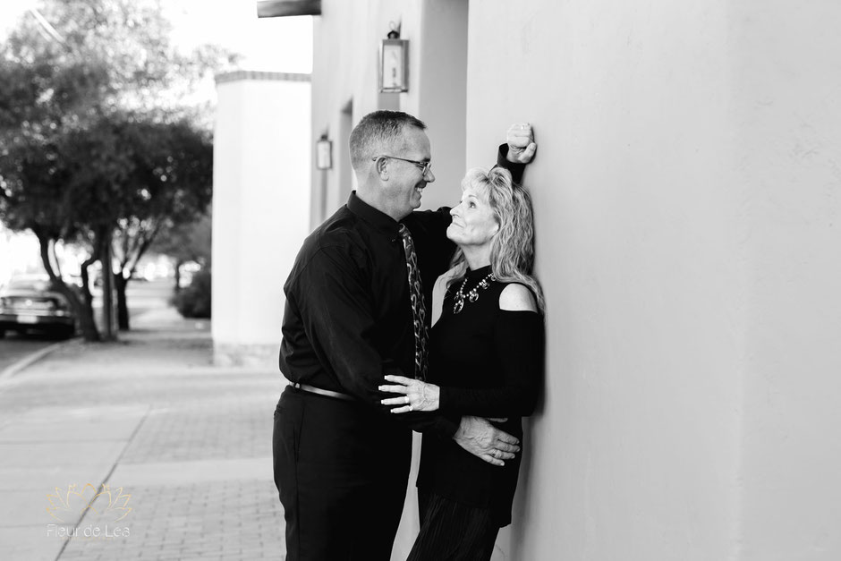 Tucson couples photographer marriage happy fun funny together downtown arizona
