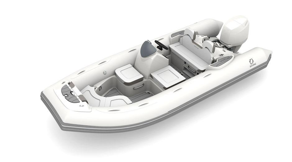 Zodiac Yachtline 490 Deluxe RIB for sale te koop - Rubberboot Holland Aalsmeer - Zodiac Nederland