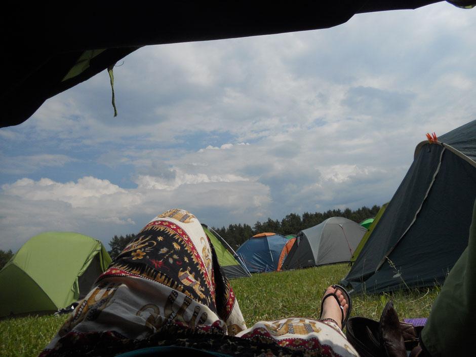 Der Blick aus meinem Zelt.