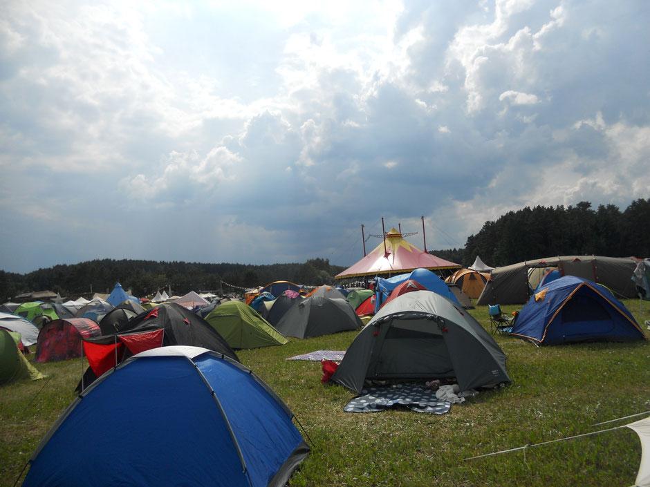 Ein Teil vom Zeltplatz