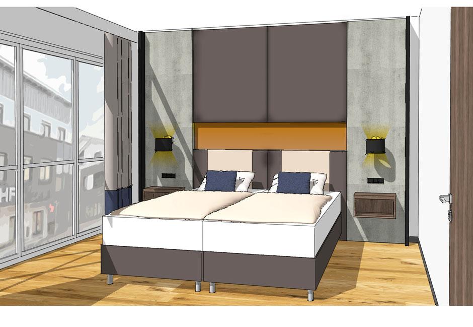Entwurf für das SKY Hotel in Cloppenburg. Realisierung Ende 2016