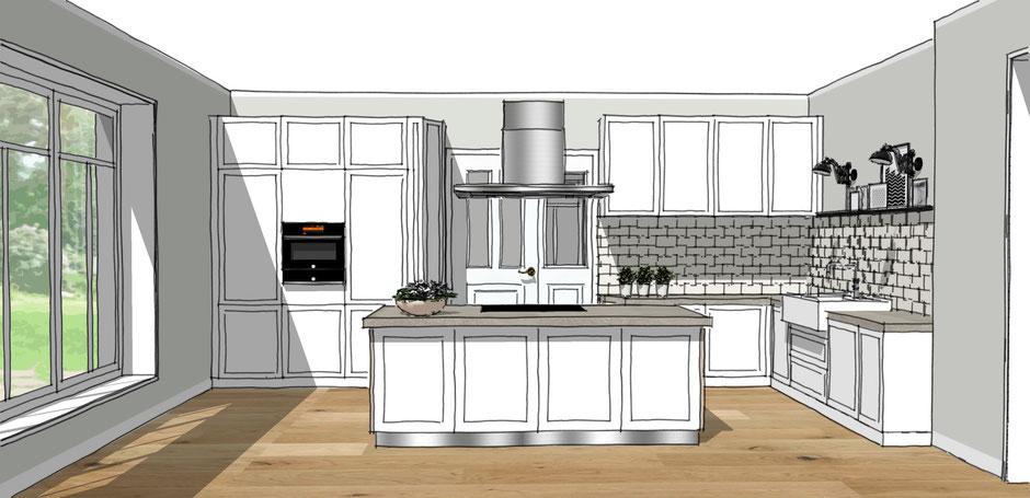 Entwurf Landhausküche