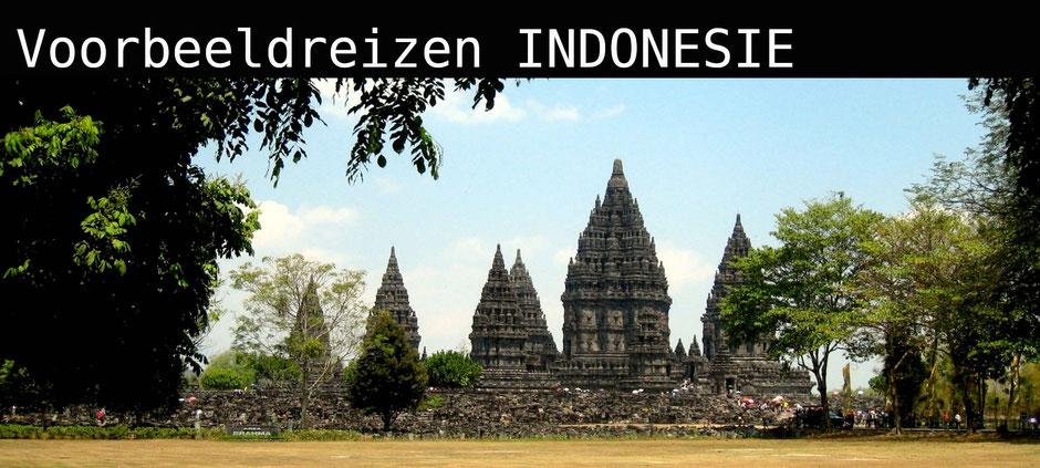 Hindoeistische Prambanan tempel dichtbij Yogyakarta Java