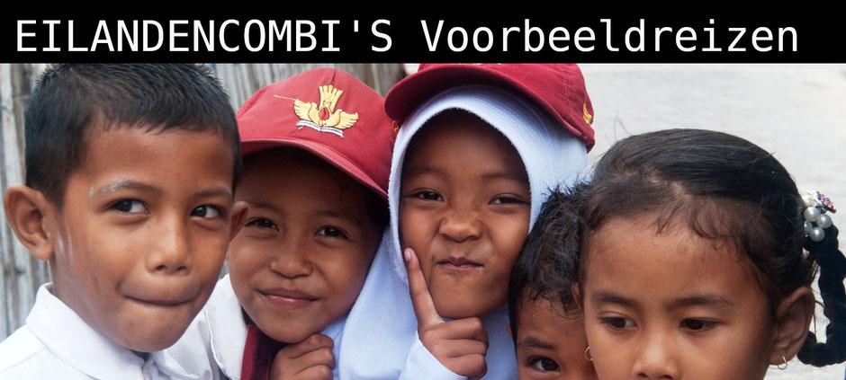 Vrolijke kinderen op Sulawesi in Indonesie