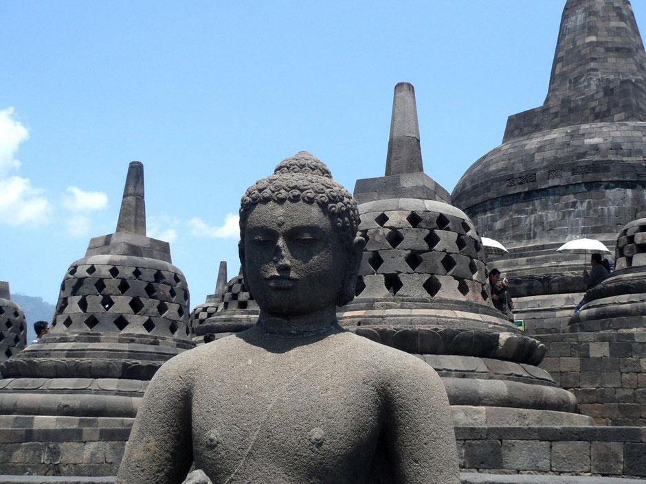 De Borobudur tempel op Java