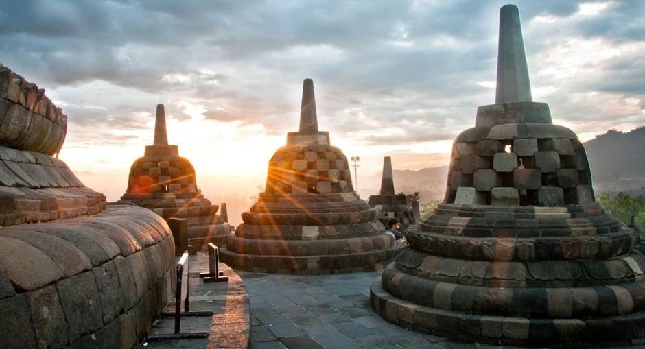 De Borobudur op Java
