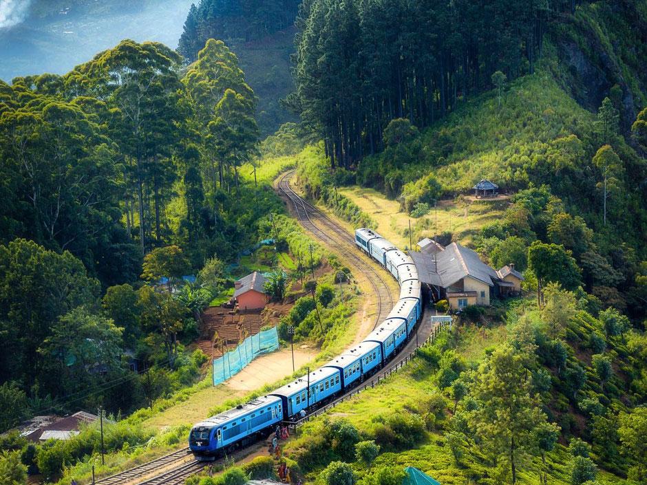 De prachtige treinreis in Sri Lanka