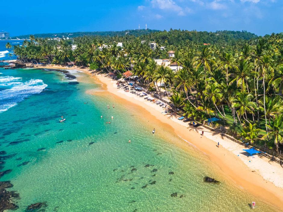 Het heerlijke strand van Tangalle
