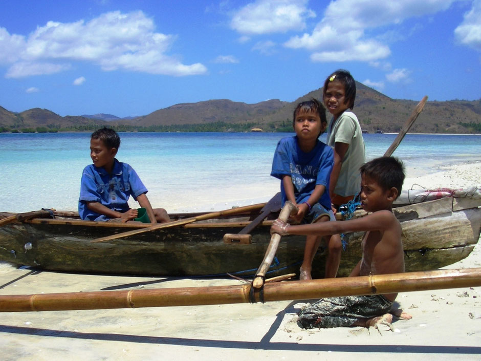 De authentieke bevolking van Lombok