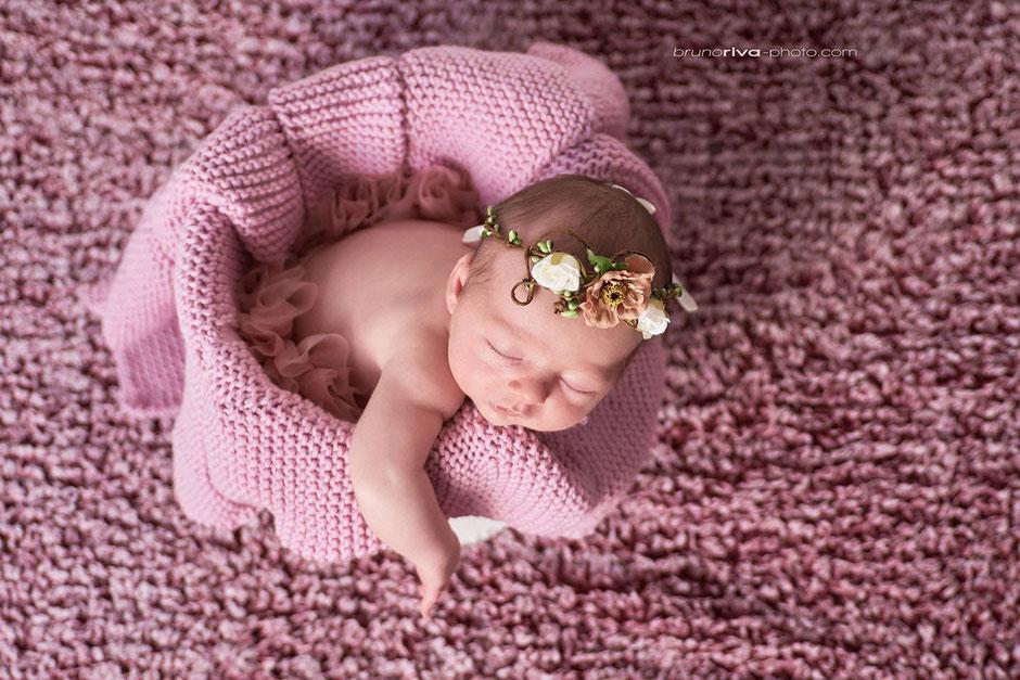 couronne bébé naissance fleurs