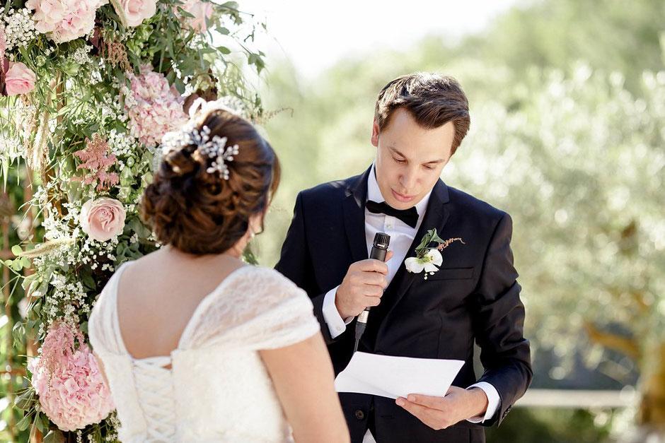 écrire ses vœux de mariage