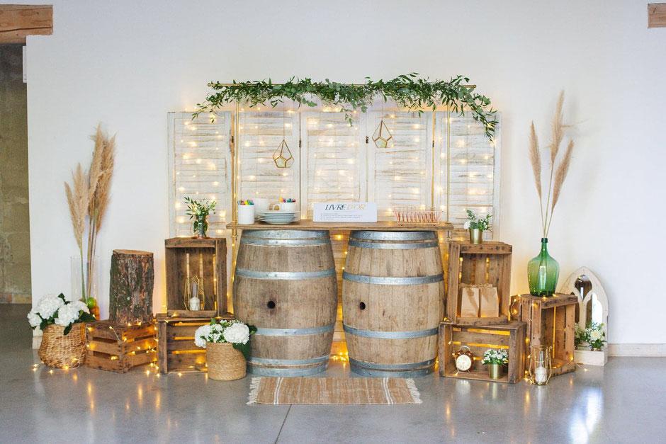 Location décoration mariage champetre rustique chic