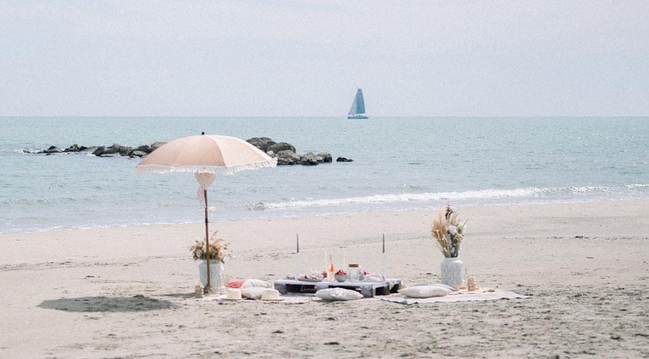 Demande en Mariage à la plage dans le sud de la France