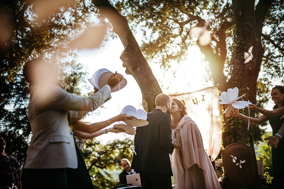 papillons magiques cérémonie laïque mariage