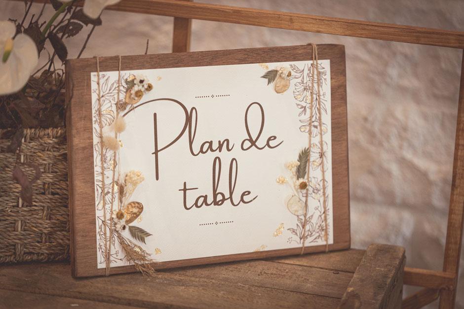 panneau plan de table