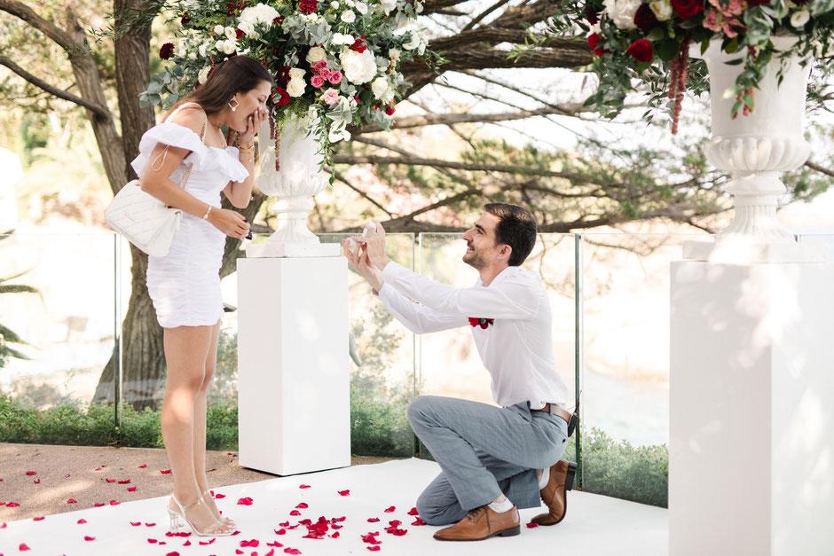 Demande en Mariage de Luxe sur la Côte d'Azur