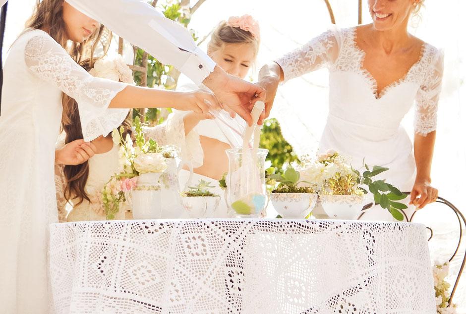 Rituel du sable cérémonie laïque mariage