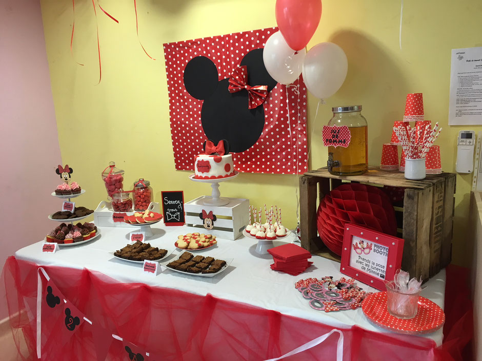 Sweet Table anniversaire minnie Montpellier