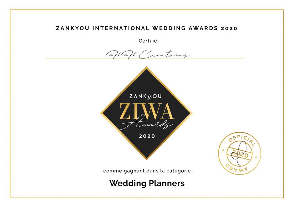 HH Créations meilleure Wedding Planner Occitanie 2020